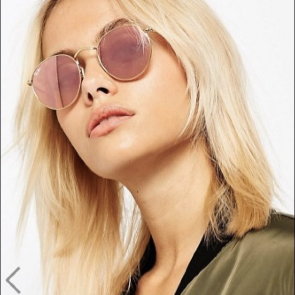 11d1e1a54 Ray-Ban Accessories | Rayban Round Flat Lens Pink And Gold | Poshmark
